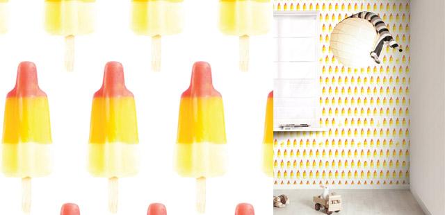 Papel tapiz con patrones de snacks dulces